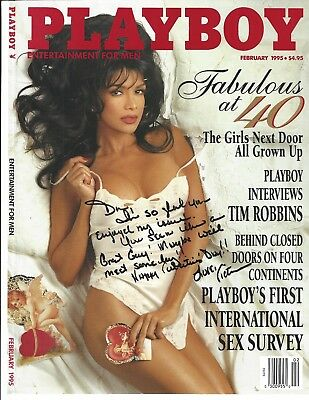 Victoria Jacobs Signed Playboy Magazine Cover Autograph February 1995