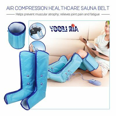Leg Massager Air Compression Wraps Electric Foot Calf Circulation & Controller T
