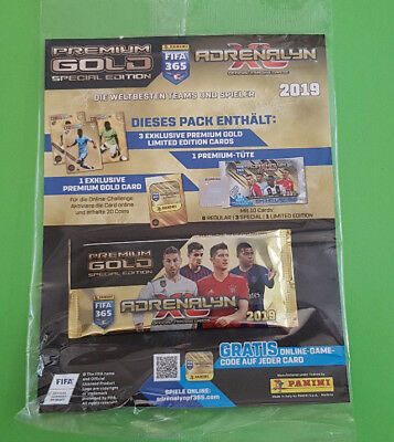 Panini Adrenalyn XL FIFA 365 2019 1 x Booster Premium Gold Limited Edition