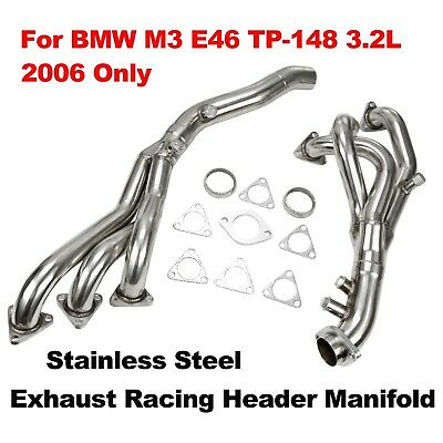 For 2006 BMW M3 E46 TP-148 3.2L Stainless Steel Exhaust Racing Header Manifold