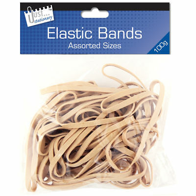 100g Strong Elastic Rubber Bands Assorted Size for Home School Office JUMBO