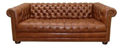 1772 401 Hancock Moore Tufted Leather Chesterfield Sofa 2014 Model