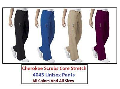 Cherokee Unisex Scrubs Core Stretch Pants 4043 All Colors And All Sizes NWT