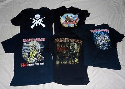 6b3457b6ce709 14 Total Heavy Metal Shirts Iron Maiden Kiss Lizzy Borden Wasp Accept  Vintage ?