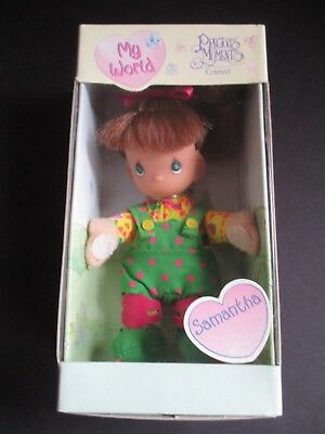 "Precious Moments ""my World"" Doll 1999  Samantha  New In Box"