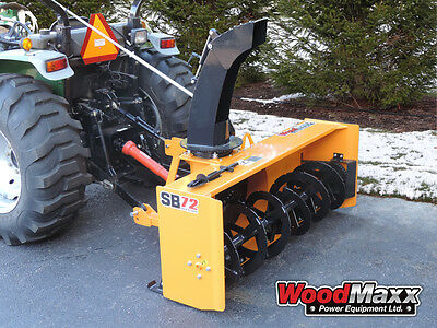 """WOODMAXX SB-72 PTO Snow Blower 72"""" (FREE SHIPPING to the lower 48 States)."""