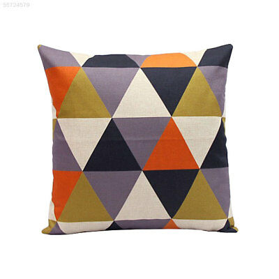 C413 Rhombus Throw Pillow Set Decor Cushion Vintage Soft Particle Orange Gift