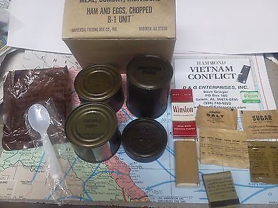 Military DOD Vietnam  Army USMC C-Rations Meal..ds