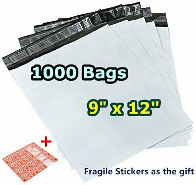 1000 9x12 Poly Mailers Plastic Mailing Shipping Bags Self Sealing Envelopes Gray