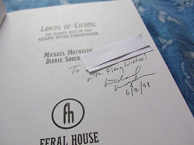 Lords of Chaos (Movie) signature by author Michael J. Moynihan Didrik Søderlind