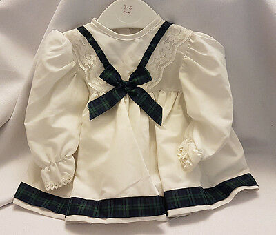 Gorgeous Scottish Traditional Style Baby Girls Ribbon Dress 3-12Months