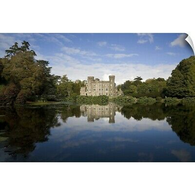 Wall Decal entitled Lake and 19th Century Gothic Revival Johnstown Castle, Co