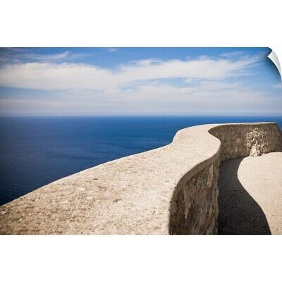 Wall Decal entitled Stone balustrade and its shadow drawing a soft curve
