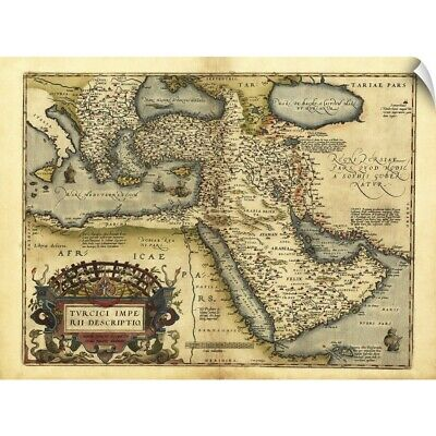 Wall Decal entitled Ortelius's map of Ottoman Empire, 1570