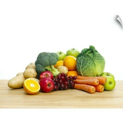 Wall Decal entitled Selection of fresh fruit and vegetables