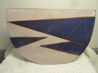 Michael Buckland Green Dene Pottery Geometric Design Stoneware Slab