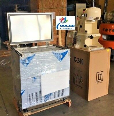 NEW Commercial Ice Maker and Ice Shaver Combo Machines Desserts Kona Snow Cone