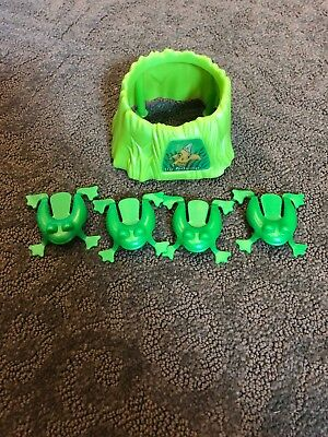 Cranium Balloon Lagoon Game Replacement Parts Pieces Frog Pond w// 4 Frogs