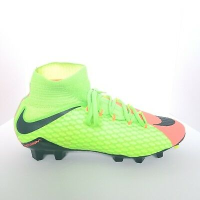 discount sale 8649f 8c358 NIKE HYPERVENOM PHATAL 3 III DF FG Electric Green Soccer Cleats 852554-308  9.5