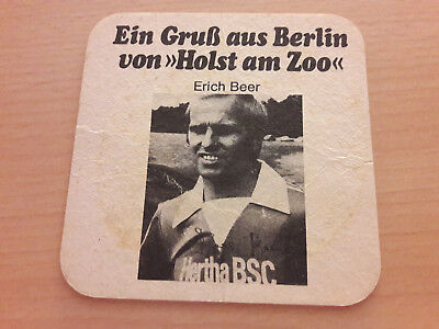 Hertha BSC 77/78 Bierdeckel Beer Berliner Kindl Holst am Zoo