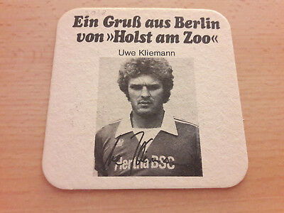 Hertha BSC 77/78 Bierdeckel Kliemann Berliner Kindl Holst am Zoo