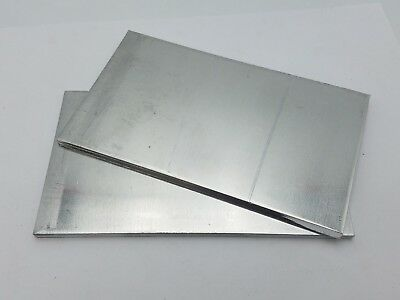 2 PC 6-1/4 x 3-11/16 x 3/16 Aluminum Sheet Plate Scrap Metal Stock Bar Flat Shim