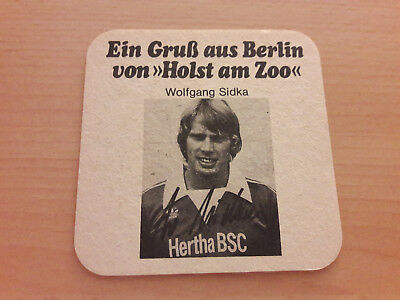 Hertha BSC 77/78 Bierdeckel Sidka Berliner Kindl Holst am Zoo