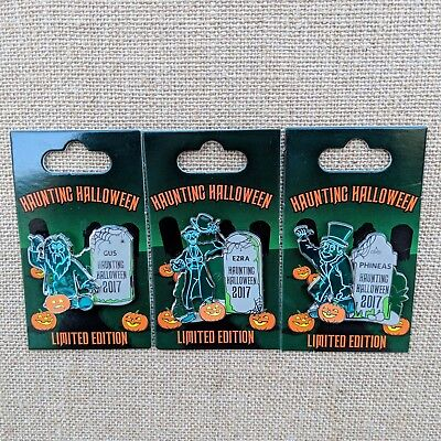 Haunting Halloween Pins 2017 Disney Haunted Mansion Hitchhiking Ghosts LE 3000