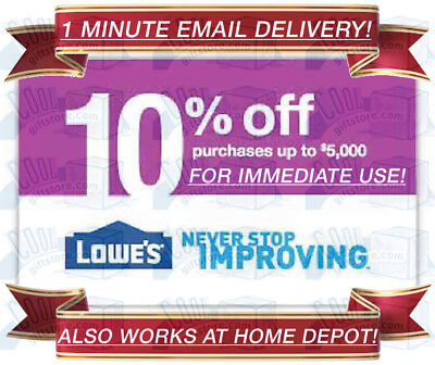Lowes In-Store & Online 10% Off Discount Promo Code 1Coupon Exp 9/30