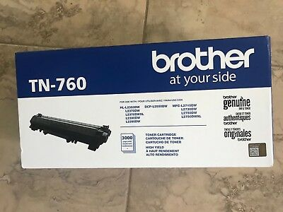 Genuine Brother High Yield Toner Cartridge, TN-760