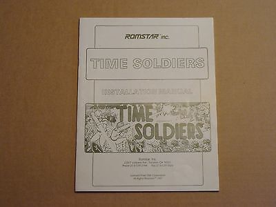 Time Soldiers Video Arcade Game Service Manual, Atlanta (8099)
