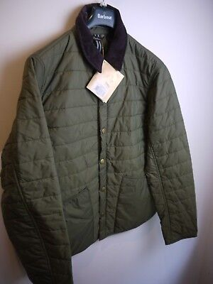 Barbour Men's Collegiated Liddesdale, Olive Green, New With Tags, Medium