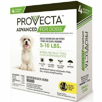 Provecta 4 Doses Advanced for Dogs, Small/5-10 lb GREEN