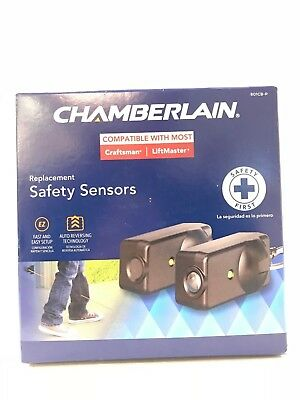 NEW! Chamberlain Replacemt Safety Sensors 801CB-P