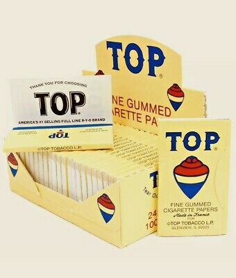 6 Pack Top 70 mm Cigarette Tobacco Rolling Papers 600 Total FREE SHIPPING