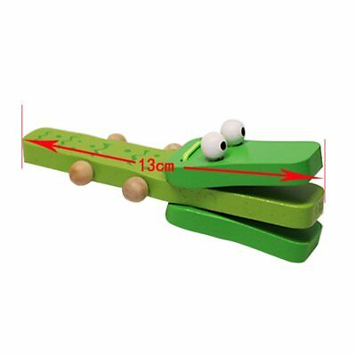Orffworld Crocodile Wooden Castanet Baby Musical Instrument Cartoon Rattle Toy#X