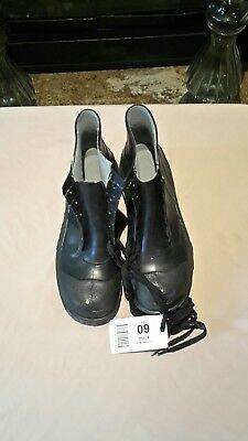 "Onguard Monarch 6"" PVC Rubber Steel Toe Work Boots by Ansell made in USA sz  9"