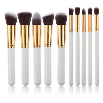10Pcs Pro Makeup Brush Set Foundation Powder Eyeshadow Eyeliner Lip Brush Tool