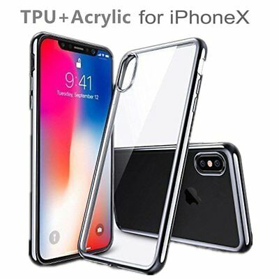 Ultra-thin Clear TPU+Acrylic Hybrid Shockproof Bumper Case Cover For iPhone X@MT