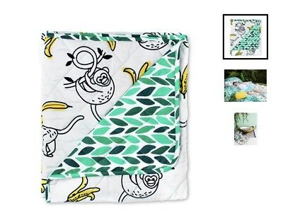 Sack Me - Monkey Business Cot Quilted Cover / Playmat - RRP $109