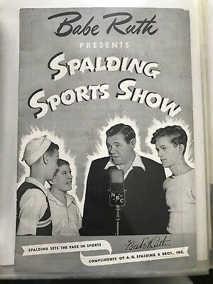 Babe Ruth Spalding Sports Show Booklet rare Magazine Super Rare Without Address