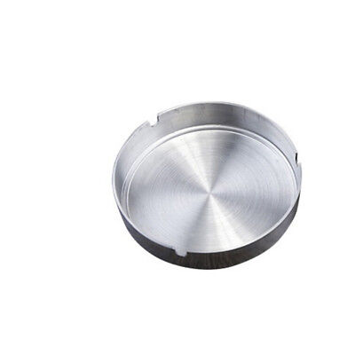 Stainless steel Round Ashtray with Rest Holder Holes Metal Ashtry Cigarette 10CM