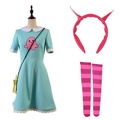 Star vs.the Forces of Evil Princess Star Butterfly Attire Dress Cosplay Costume