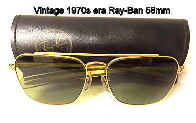 Vintage, Bausch & Lomb, 1970s era Ray-Ban 58mm  Sunglasses with Case,