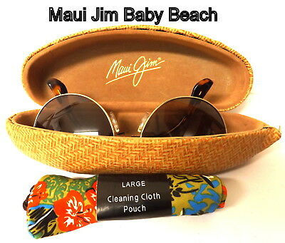 Vintage, Maui Jim Baby Beach Sunglasses with Cleaning Pouch and Case ,
