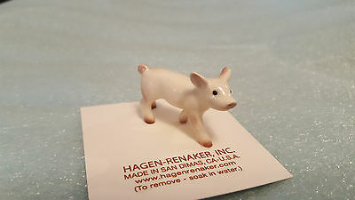 Hagen Renaker Baby Pig Walking Figurine Miniature Gift New Free Shipping 03207