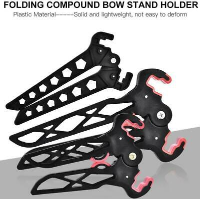 Archery Kick Compound Recurve Bow Stand Holder Rack for Hunting Target Shooting
