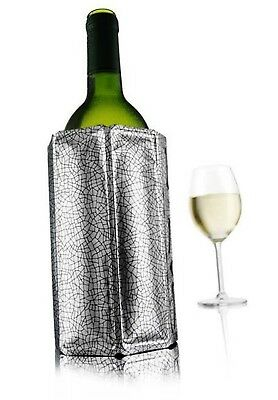 NEW VACU VIN ACTIVE WINE COOLER Vacuvin Chill Chiller Cool Champagne SILVER