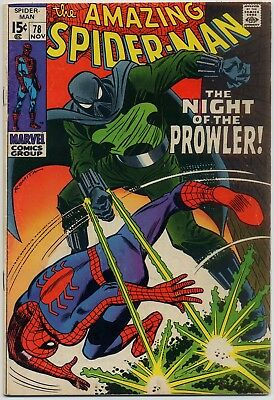 Amazing Spider-Man 78 VG/FN 5.0 1st appearance The Prowler! John Buscema art