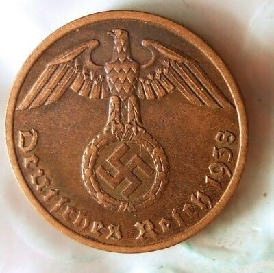 1938 NAZI GERMANY REICHSPFENNIG - Collectible Coin - FREE SHIP - WW2 Bin 1